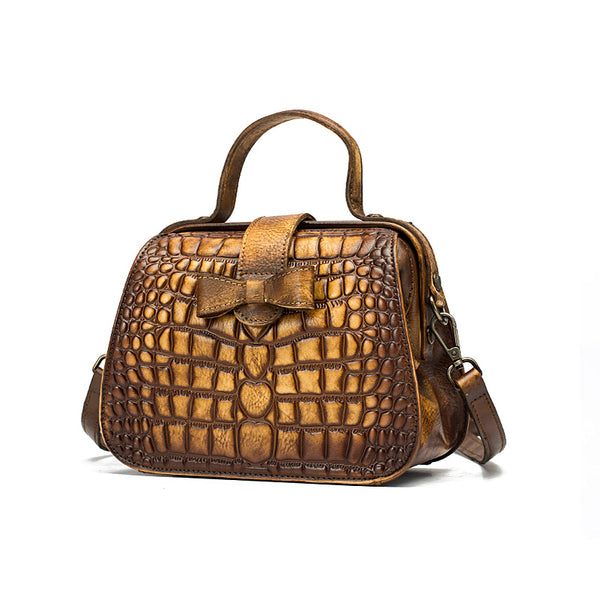 Alligator Pattern Leather Female Doctors Bags Purse Crossbody Handbags for Women