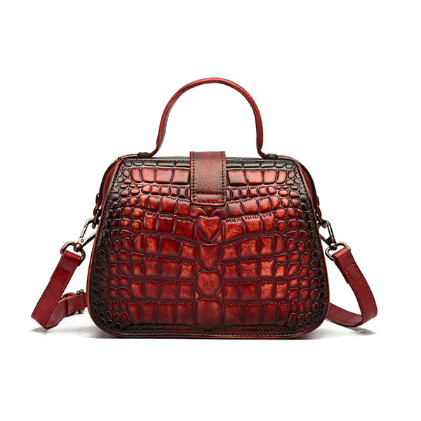 Women Doctors Bag Alligator Pattern Leather Handbags Crossbody Bags chic