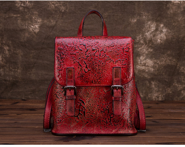 Women Dyeing Leather Backpack Handbags Cool Backpacks for Women fashion