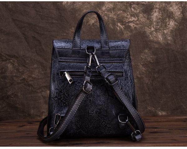 Women Dyeing Leather Backpack Handbags Cool Backpacks for Women gift
