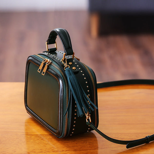 Women Genuine Leather Crossbody Bags Cube Bag Shoulder Bag Purses Original