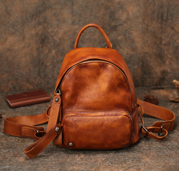 Women Leather Small Backpack Purse Cute Backpacks for Women Accessories