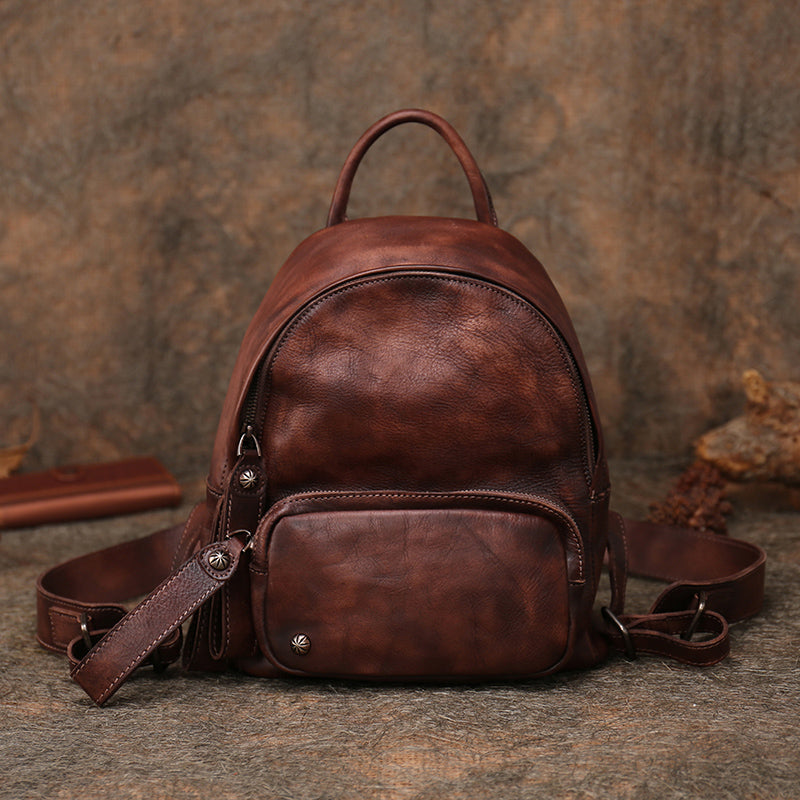 Women Leather Small Backpack Purse Cute Backpacks for Women Chic