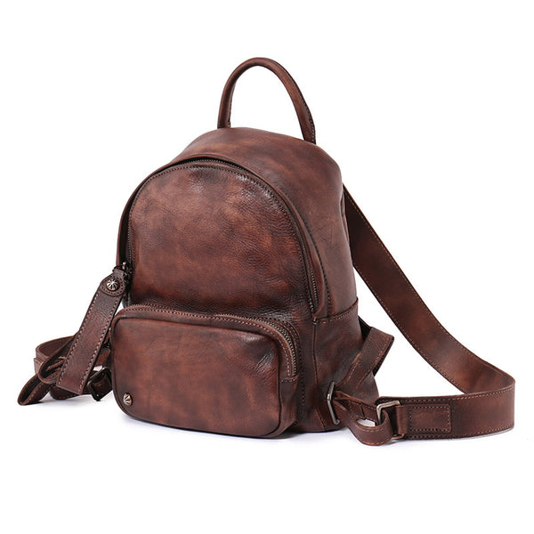 Women Leather Small Backpack Purse