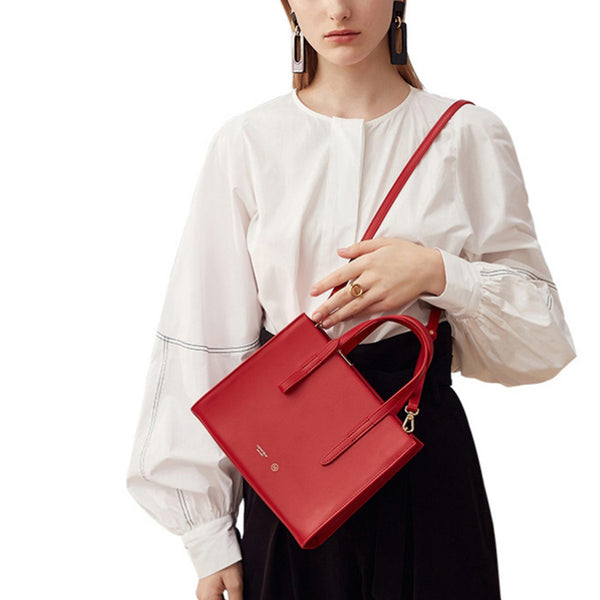 Women Red Leather Handbags Small Crossbody Bags Purse for Women cute