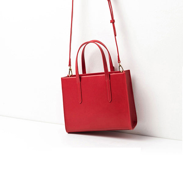 Women Red Leather Handbags Small Crossbody Bags Purse for Women fashion