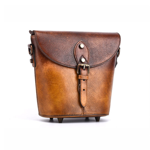 Women Satchel Bag Brown Leather Bucket Bag Crossbody Bags for Women