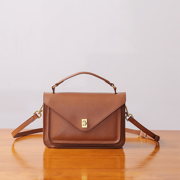 Women Stylish Leather Satchel Bag Crossbody Bags Purses for Women Brown