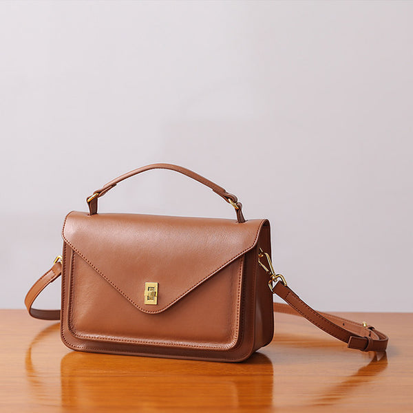 Women Stylish Leather Satchel Bag Crossbody Bags Purses for Women cowhide