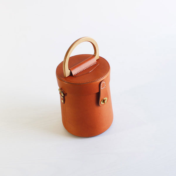 Women Vintage Leather Bucket Bag Crossbody Bags Handbags for Women Accessories