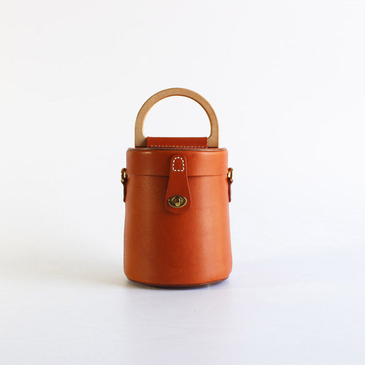 Women Vintage Leather Bucket Bag Crossbody Bags Handbags for Women