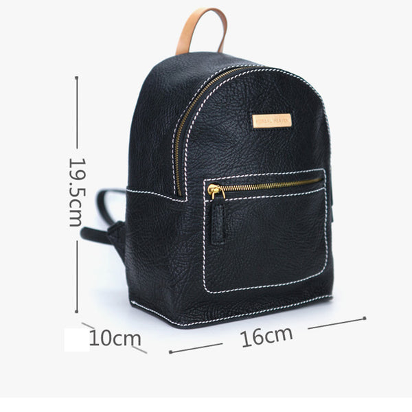 Women's Blue Leather Mini Backpack Bag Purse Trendy Backpacks for Womens beautiful