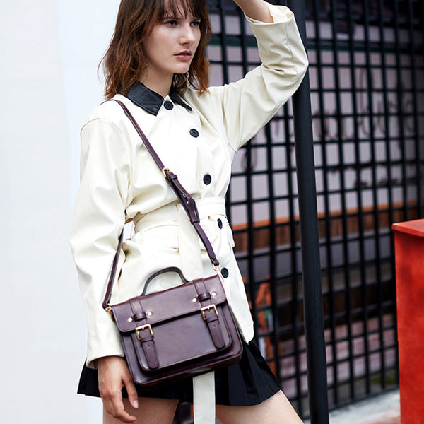 Women's Cambridge Satchel Bag Leather Crossbody Bags for Women fashion