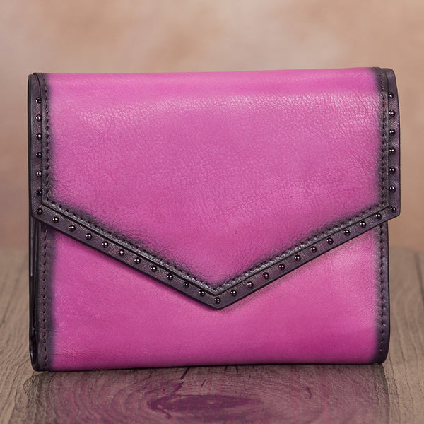Women's Genuine Leather Trifold Wallet with Coin Pocket and Card Holder Affordable