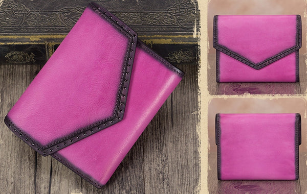 Women's Genuine Leather Trifold Wallet with Coin Pocket and Card Holder Cool