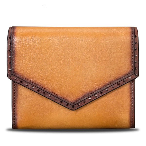 Women's Genuine Leather Trifold Wallet