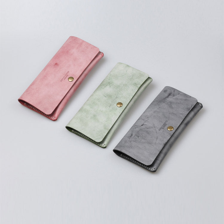 Women's Green Leather Long Wallet Billfolds Purse Ladies Leather Wallets Accessories