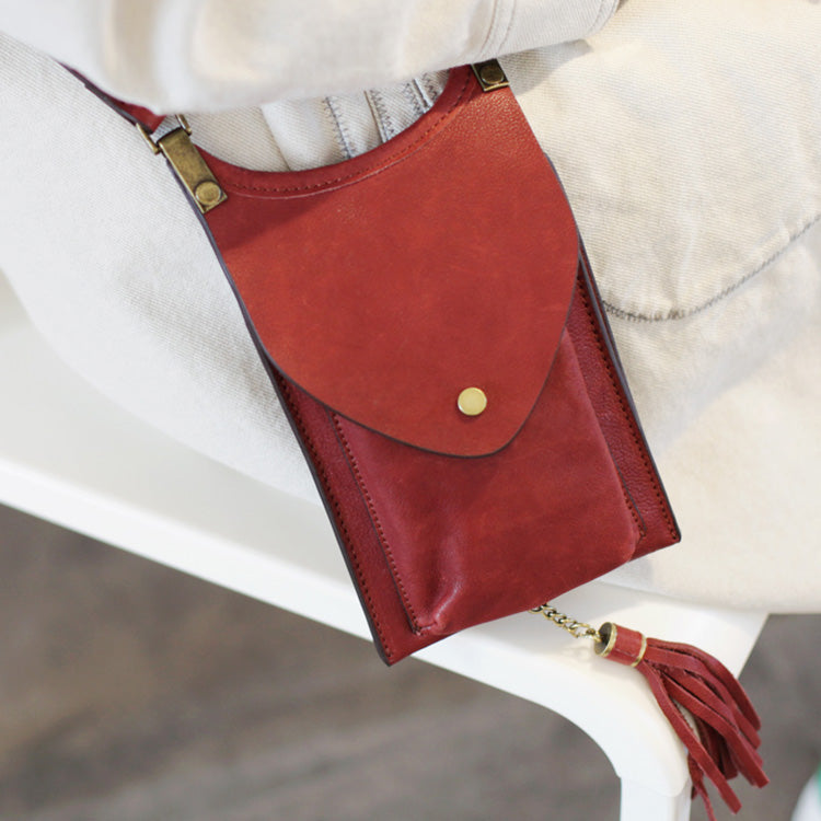 Women's Leather Crossbody Phone Bag