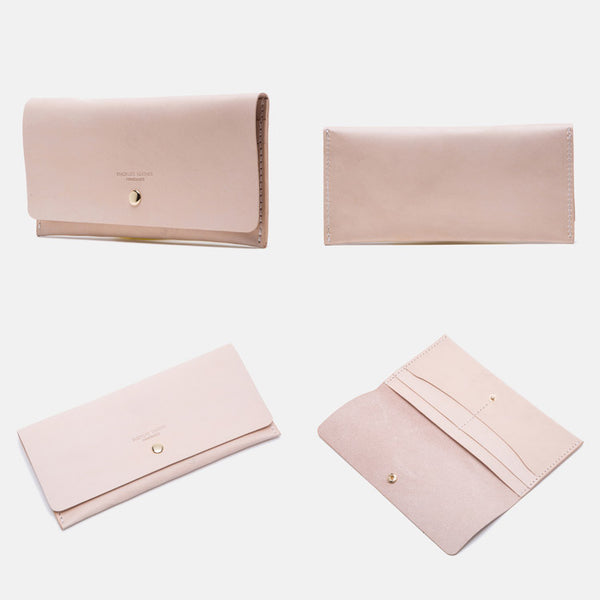 Women's Pink Leather Billfolds Long Wallet Purse Ladies Leather Wallets Boutique