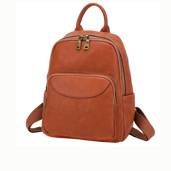 Women's Small Genuine Leather Backpack Bag Purse Trendy Backpacks For women Boutique