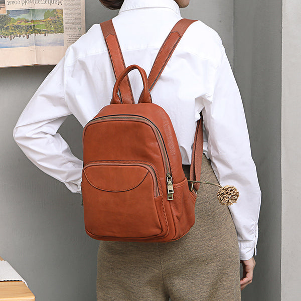 Women's Small Genuine Leather Backpack Bag Purse Trendy Backpacks For women Designer