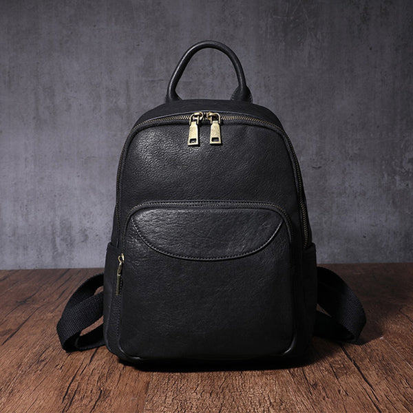 Women's Small Genuine Leather Backpack Bag Purse Trendy Backpacks For women quality