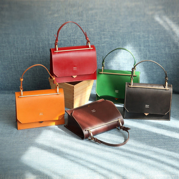 Women's Small Leather Satchel Handbags Over The Shoulder Bag Purse for Women Original