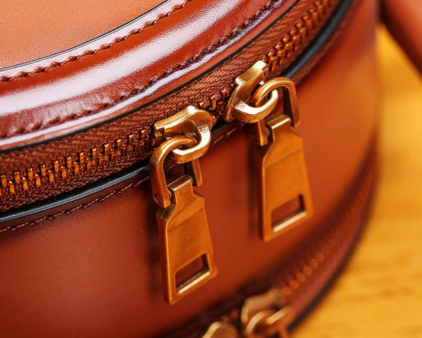 Womens Bee Leather Circle Bag Crossbody Bags Shoulder Bag Purses for Women stylish