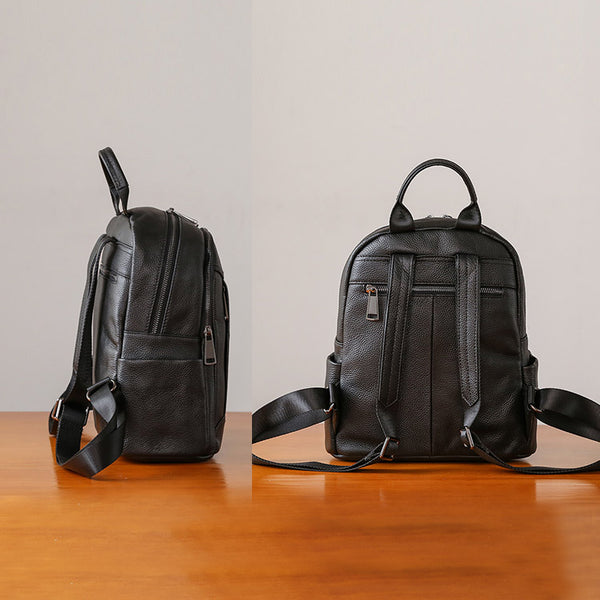 Womens Black Leather Backpack Purse Cool Backpacks for Women Designer