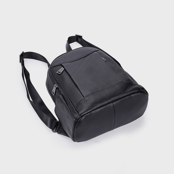 Womens Black Leather Backpack Purse Cool Backpacks for Women beautiful