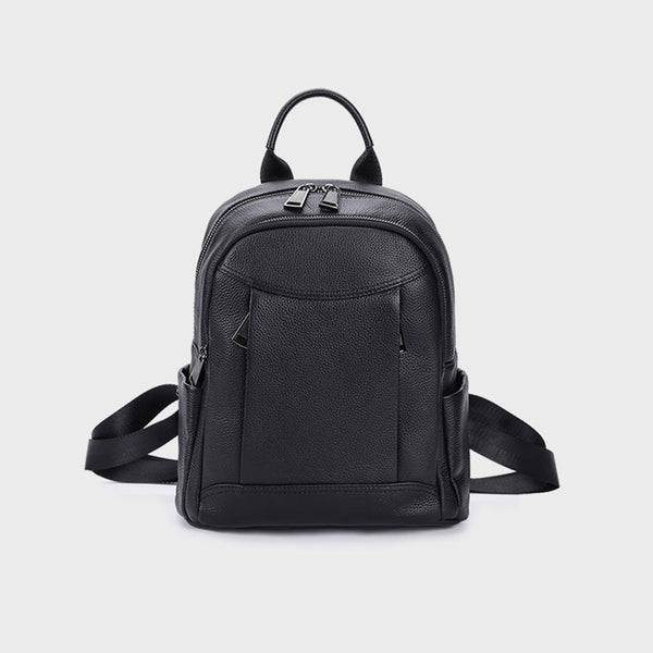 Womens Black Leather Backpack Purse Cool Backpacks for Women