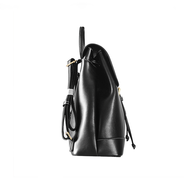 Womens Black Leather Backpack Purse Cute Backpacks for Women small