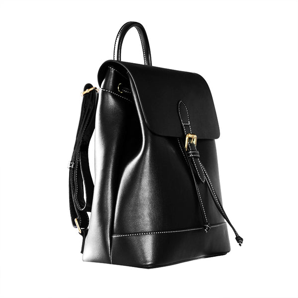 Womens Black Leather Backpack Purse Cute Backpacks for Women