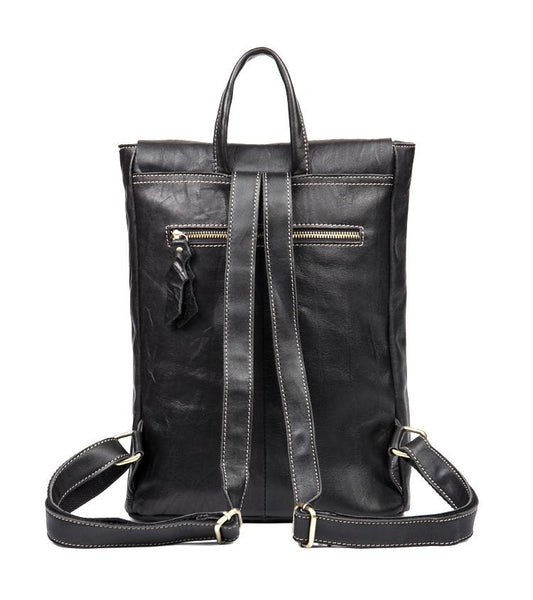 Womens Black Leather Backpack Purse Nice Backpacks Book Bags for Women Gift
