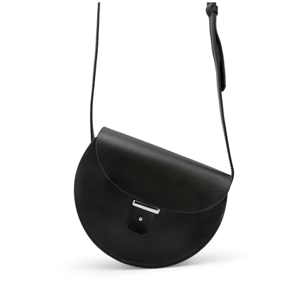 Womens Black Leather Crossbody Bags Cute Small Shoulder Bags for Women Details