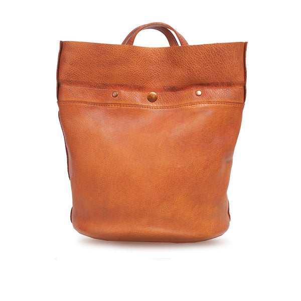 Womens Brown Leather Crossbody Tote Handbags