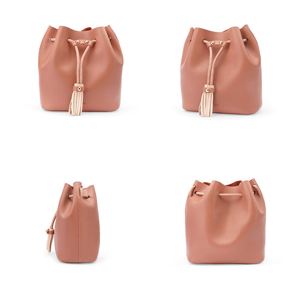 Womens Cute Leather Crossbody Bags Small Shoulder Bags for Women Pink