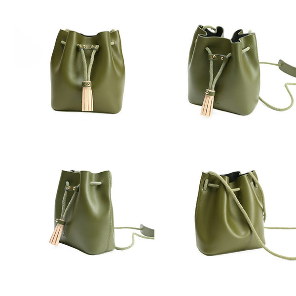 Womens Cute Leather Crossbody Bags Small Shoulder Bags for Women green