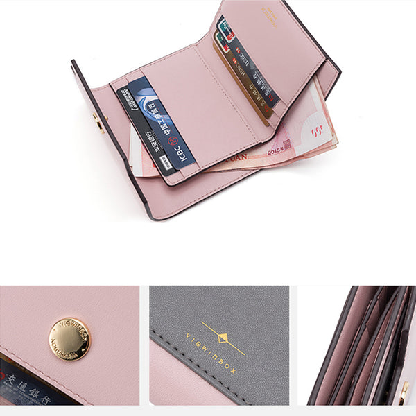 Womens Cute Leather Wallets Small Wallet Purse for Women Boutique