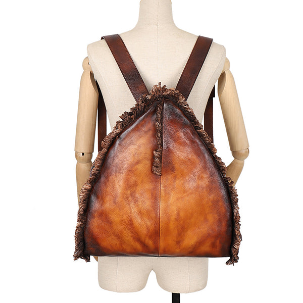 Womens Designer Leather Backpack Purse Small Rucksack Bags For Women Chic