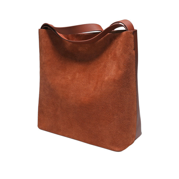 Womens Genuine Leather Brown Tote Bags