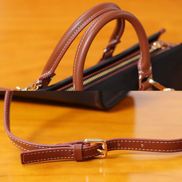 Womens Genuine Leather Handbags Crossbody Bags Purses for Women Details