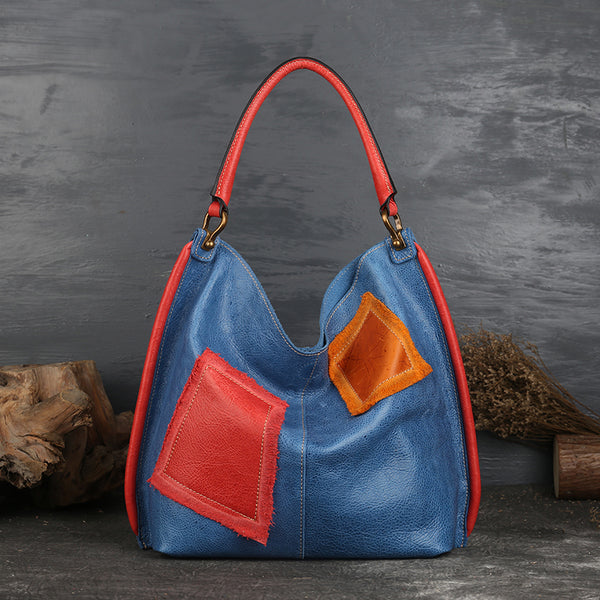 Womens Genuine Leather Hobo Handbags Tote Bags Purses for Women Accessories