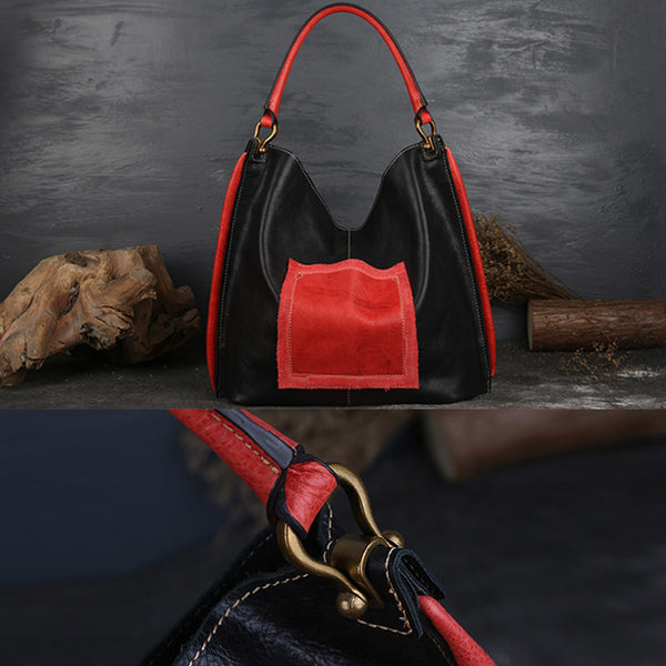 Womens Genuine Leather Hobo Handbags Tote Bags Purses for Women Boutique