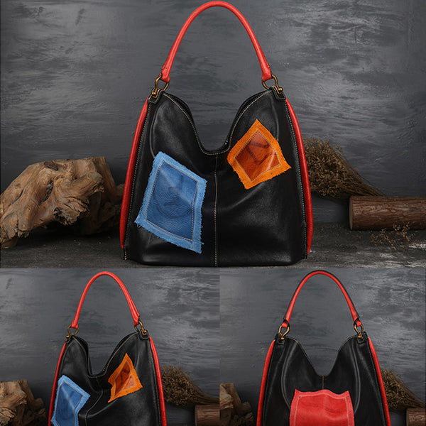 Womens Genuine Leather Hobo Handbags Tote Bags Purses for Women cool