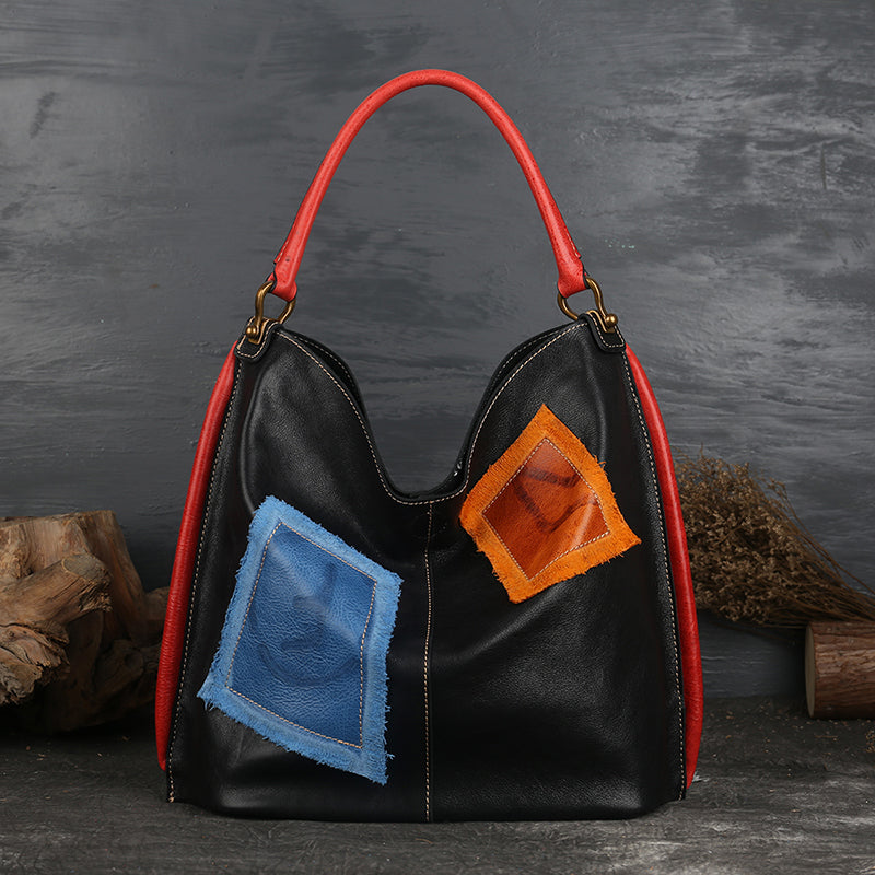 Womens Genuine Leather Hobo Handbags Tote Bags Purses for Women