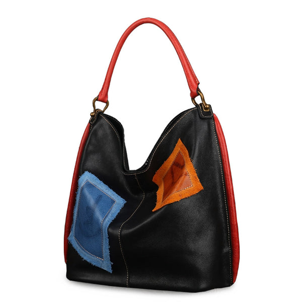 Womens Genuine Leather Hobo Handbags Tote Bags