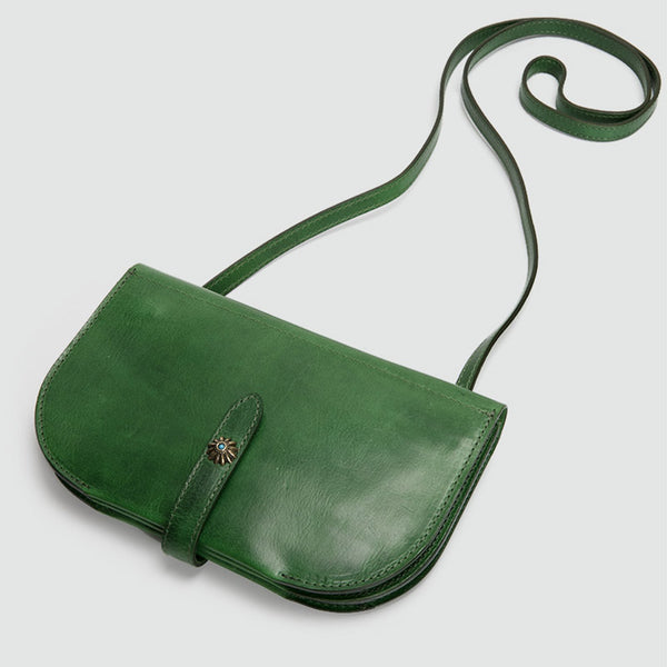 Womens Green Leather Crossbody Saddle Bag Purse Small Shoulder Bag best