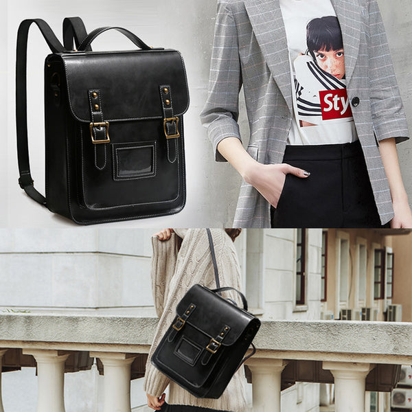 Womens Leather Backpack Purse Crossbody Laptop Messenger Bag Book Bags for Women Original