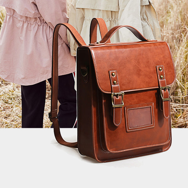 Womens Leather Backpack Purse Crossbody Laptop Messenger Bag Book Bags for Women quality